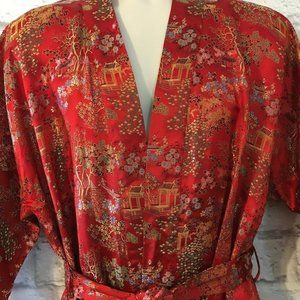 Longevity Hangzhou Chinese Embroidered Large Robe